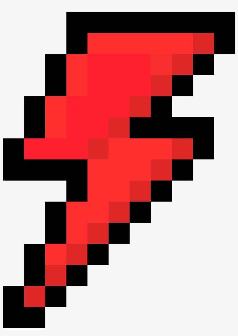 Lightning Bolt - Pixel Lightning Bolt, transparent png #3286346
