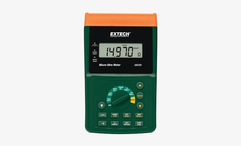 High Resolution Micro-ohm Meter - Extech Um200 High Resolution Micro-ohm Meter, transparent png #3288361
