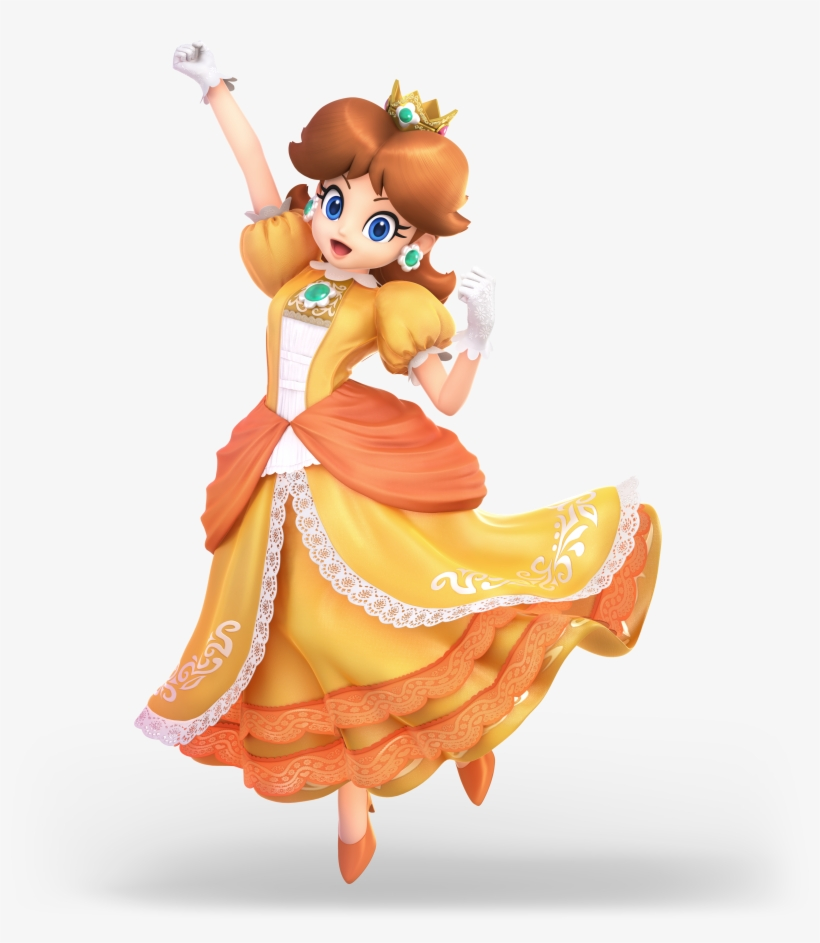 This Is The New Daisy Amiibo - Daisy Super Smash Bros Ultimate, transparent png #3292487