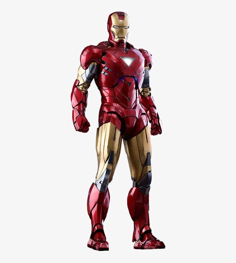 Iron Man Armor - Iron Man Mark 6 Armor, transparent png #3292727