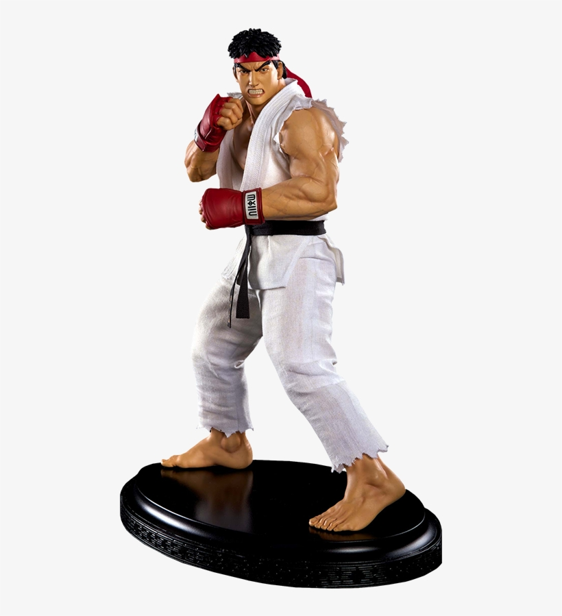 Ryu Ansatsuken Statue - Street Fighter 1/4-scale Ryu Statue, transparent png #3297288