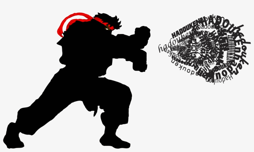 Leave A Comment - Ryu Street Fighter Silueta, transparent png #3297320