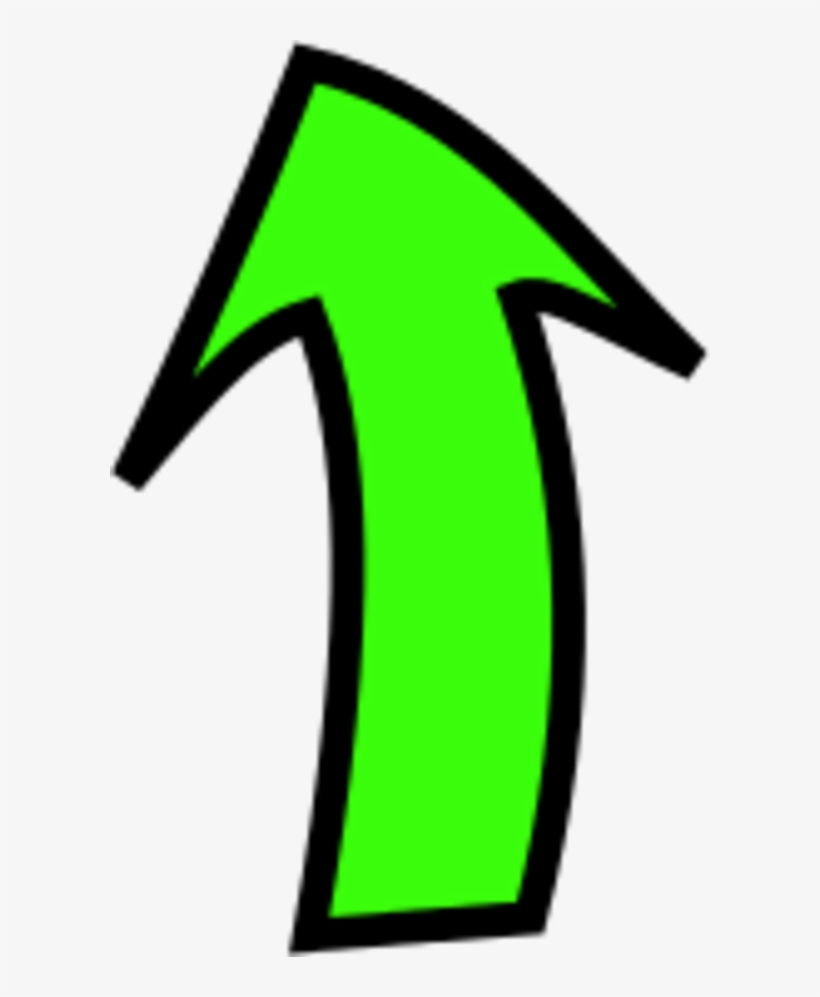 Arrow Pointing Up - Curved Arrow Pointing Up Png, transparent png #331076