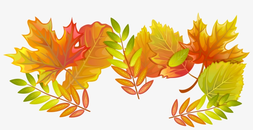 Fall Leaves Png Decorative Clipart Image - Transparent Fall Leaves, transparent png #331895