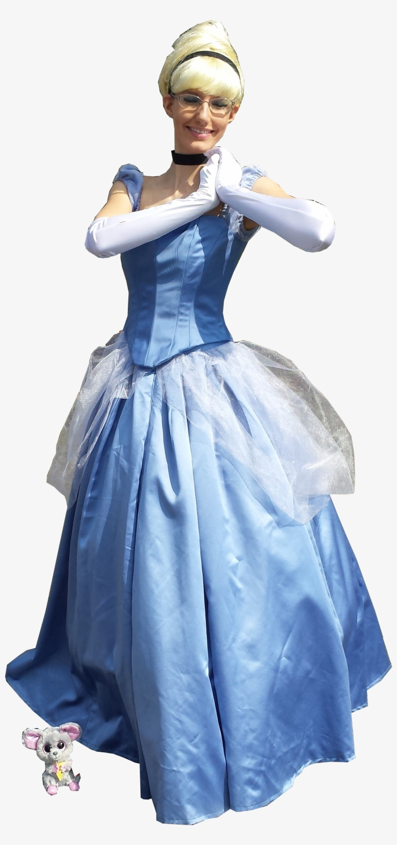 2017 Time Travel Costumes Cinderella Gown Dress Costume - Disney Princess Cosplay Png, transparent png #332006