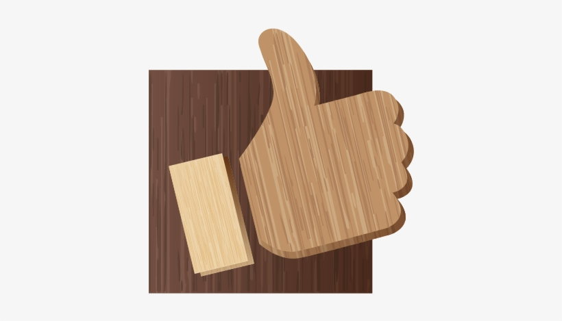 Download Facebook Icon - Facebook Like On Wood, transparent png #332200