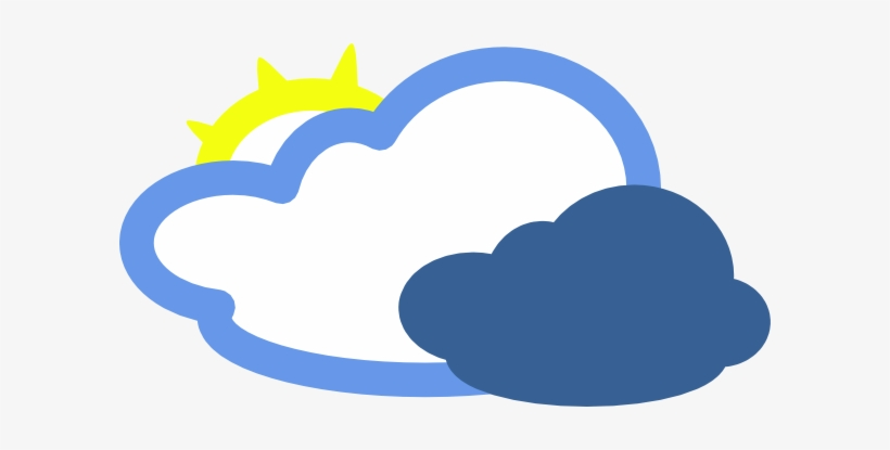 Fog Clipart Weather Symbol - Mostly Cloudy Weather Symbol, transparent png #332611