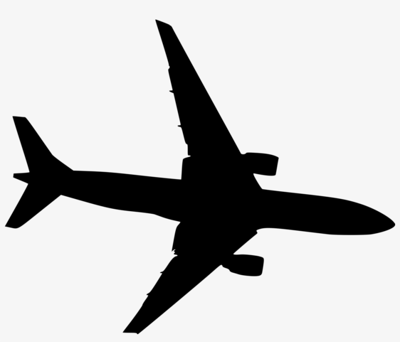 Small Airplane Silhouette Transparent Background Free