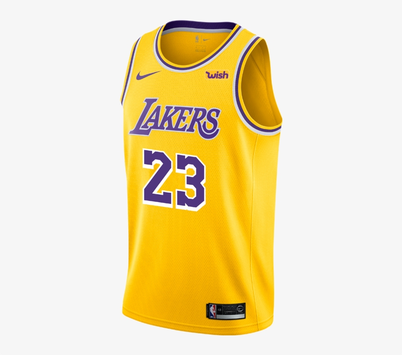 Los Angeles Lakers Youth Lebron James Icon Edition - Los Angeles Lakers 2018 19 Jersey, transparent png #333639