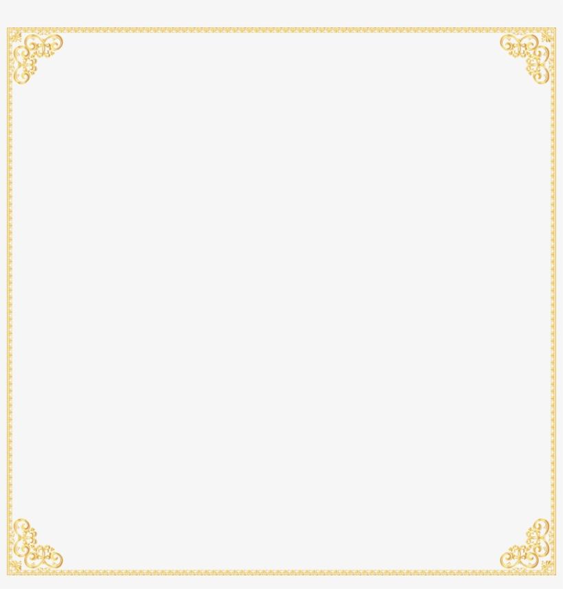 Free Png Gold Border Frame Png Images Transparent - Gold ...