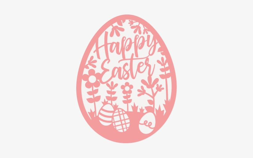 Happy Easter Egg Cute Svg Cut Files Svg Scrapbook Cut - Cricut, transparent png #335891