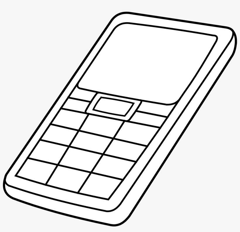 Cell Phone Clip Art Black And White Free Clipart Cell Phone Colouring Page Free Transparent Png Download Pngkey