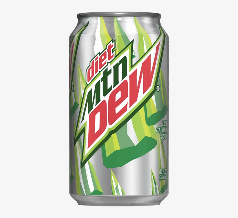 Diet Mountain Dew - Diet Mountain Dew Can Png, transparent png #336369
