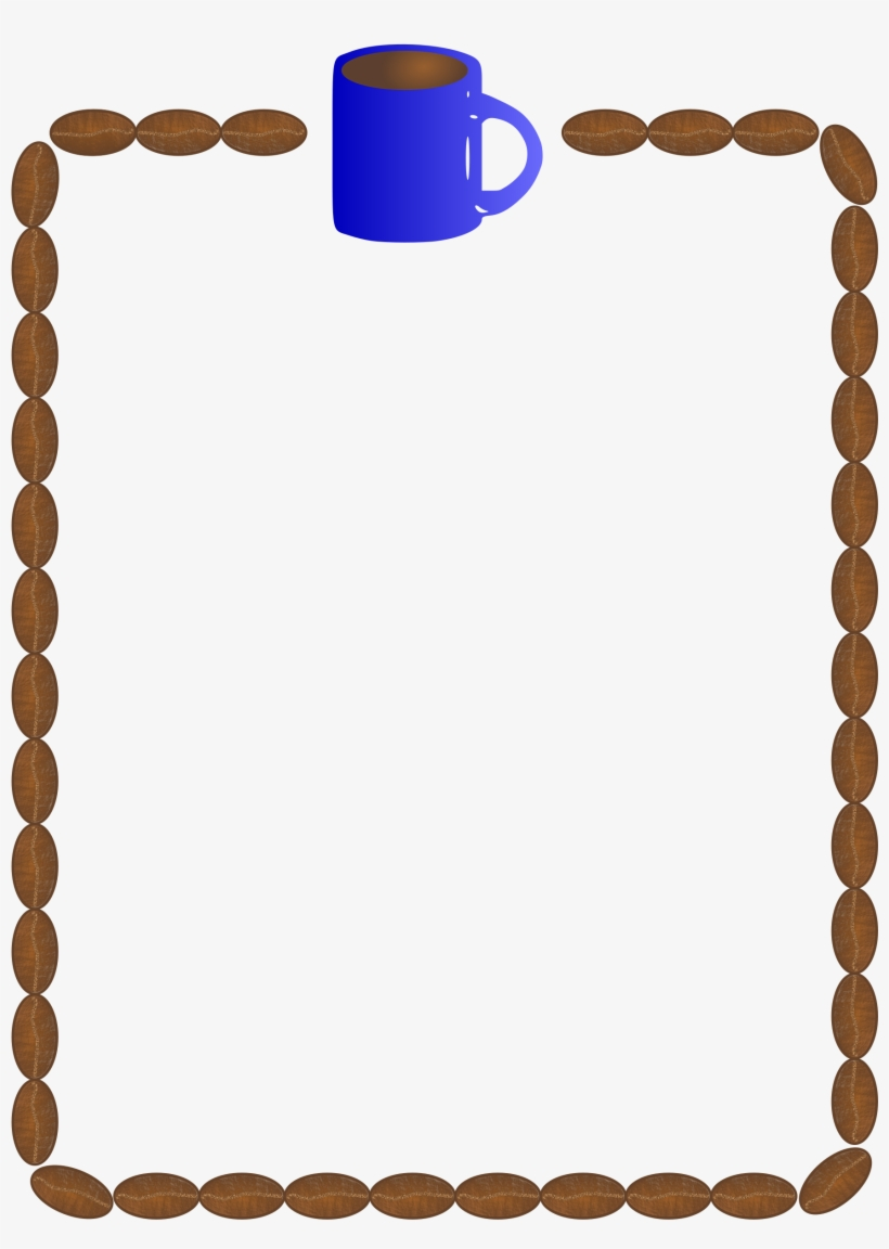 Coffee Clip Art Pinterest And Beans - Coffee Bean Border Clip Art Free, transparent png #337489