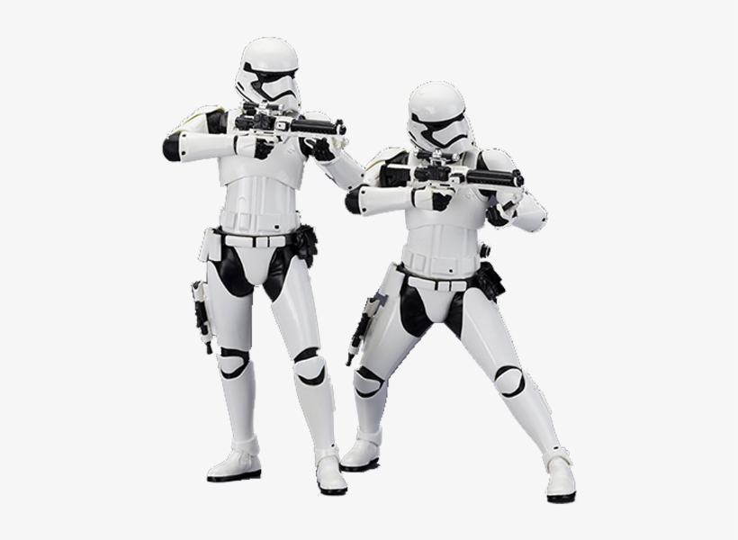 Star Wars First Order Stormtrooper Artfx 2 Pack Display - Stormtrooper First Order Png, transparent png #337974