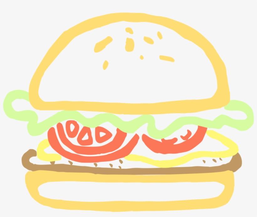 Hamburger Fast Food Chicken Sandwich Krabby Patty - Clip Art Burger Png, transparent png #338690