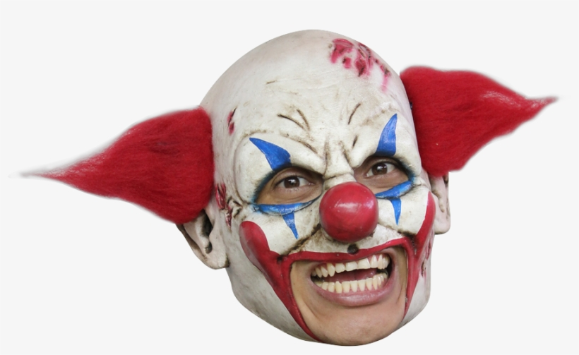 Deluxe Clown Chinless Mask - Open Mouth Clown Mask, transparent png #3307472