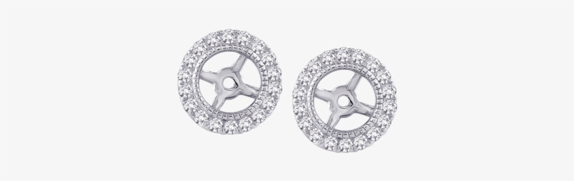 27ctw Diamond Earring Jackets - Diamond Earring Jackets In 14k White Gold (1/4 Cttw), transparent png #3310295