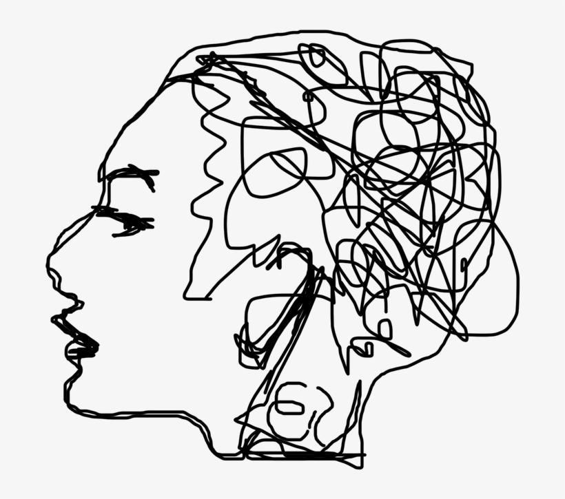 Scribble - Line Drawing Mental Health, transparent png #3310365