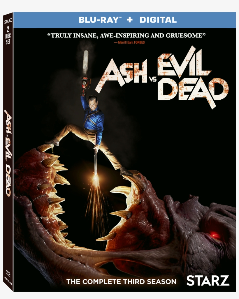 Season 3 Blu-ray Combo Pack Cover - Ash Vs Evil Dead Season 3 Dvd, transparent png #3318920