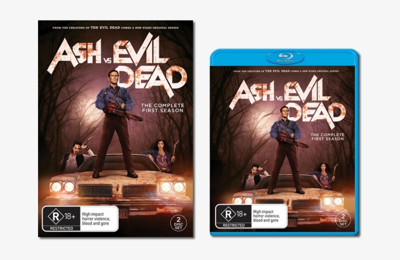 Retail Wide Dvd & Blu-ray Artwork - Ash Vs Evil Dead The Complete First Season Dvd, transparent png #3319544