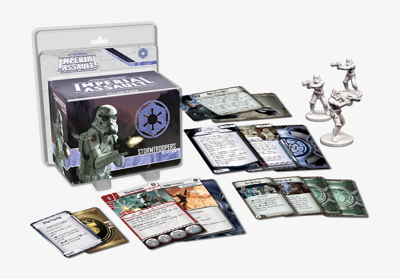 Imperial Assault Stormtroopers - Star Wars Imperial Assault Bt 1 And 0 0 0 Villain Pack, transparent png #3323731
