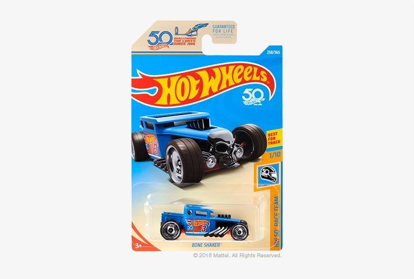 Bone Shaker - ' - Hot Wheels 50th Anniversary Car, transparent png #3330331