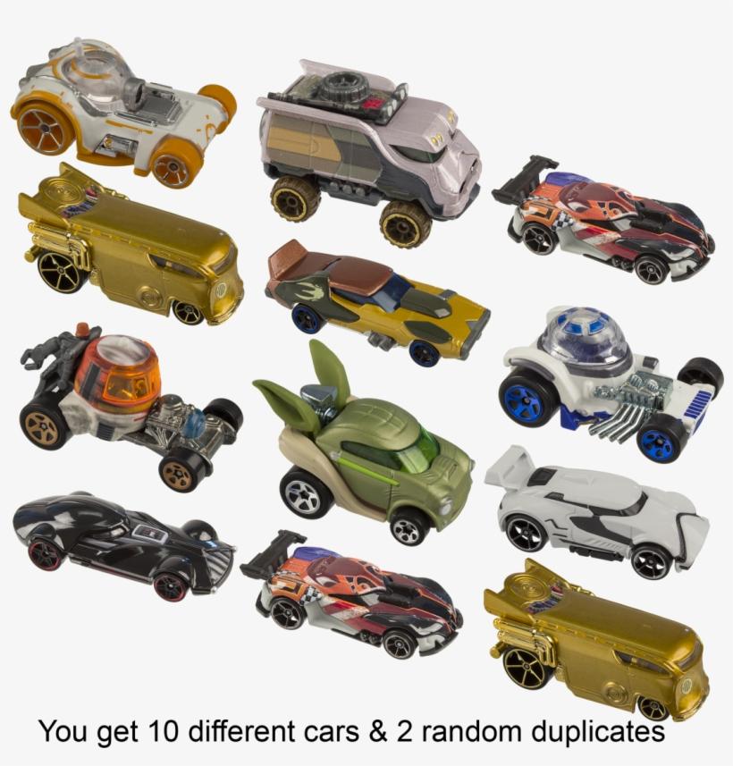 12-pack Hot Wheels Star Wars Die Cast Cars, transparent png #3330547
