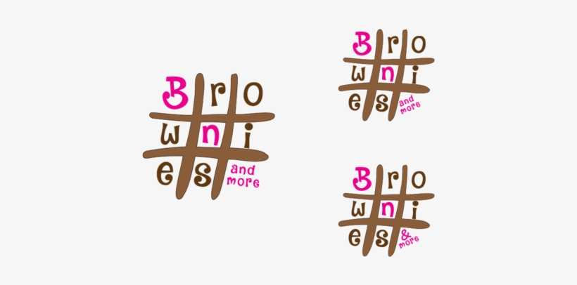 Hashtag Brownie A Logo, Monogram, Or - Logo Design Brownies Logo, transparent png #3332270