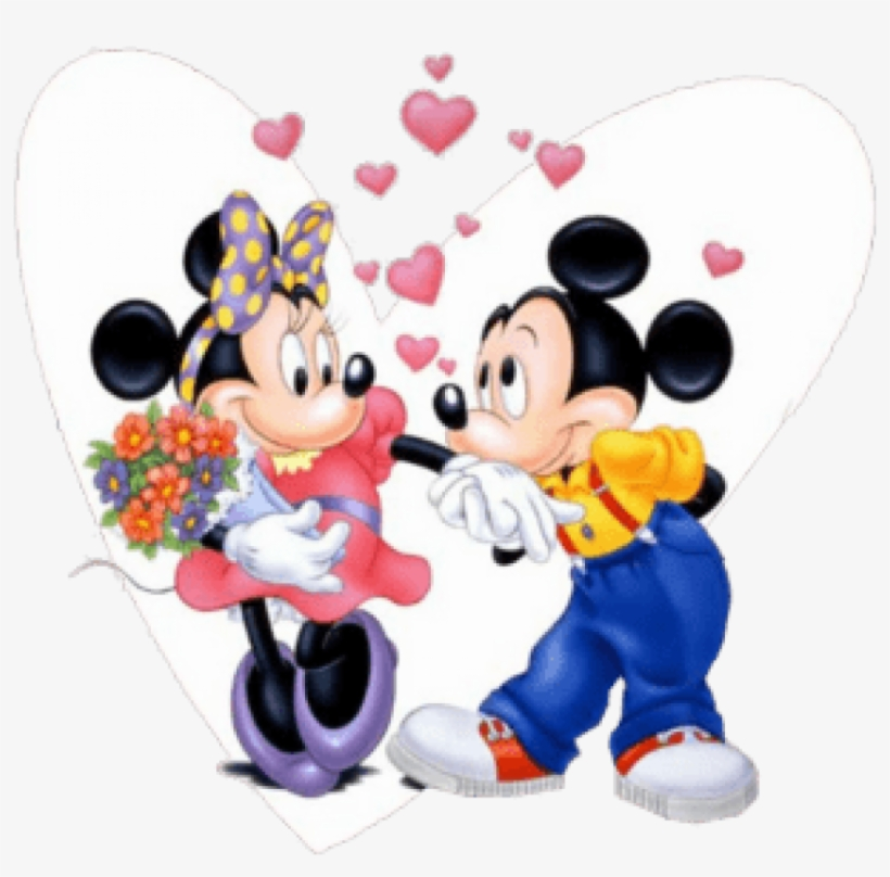 Mickey & Minnie Mouse Psd - Mickey Mouse Dan Minnie Mouse Png, transparent png #3332291