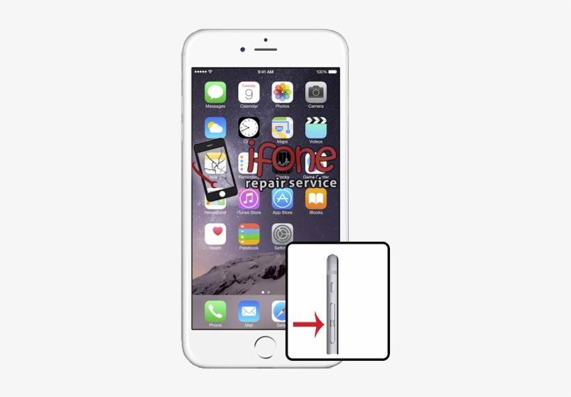 Iphone 6 Plus Volume Button Repair - Apple Iphone 6 Plus - Gold, transparent png #3333395