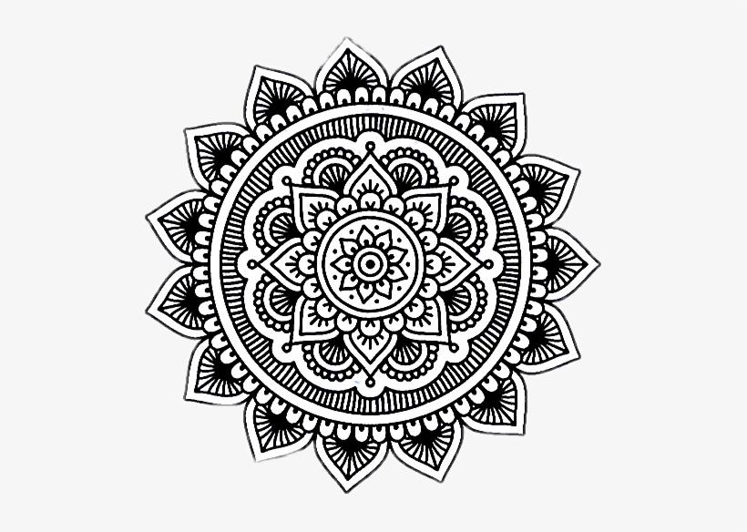 Mandala Mandalas Dibujo Tumblr Dibujos - Degradado Mandala, transparent png #3333942