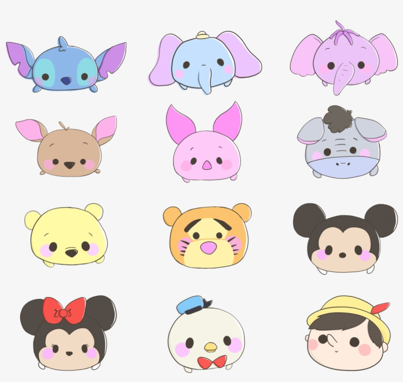 42 Images About Tumblr Overlays On We Heart It Tsum Tsum Disney