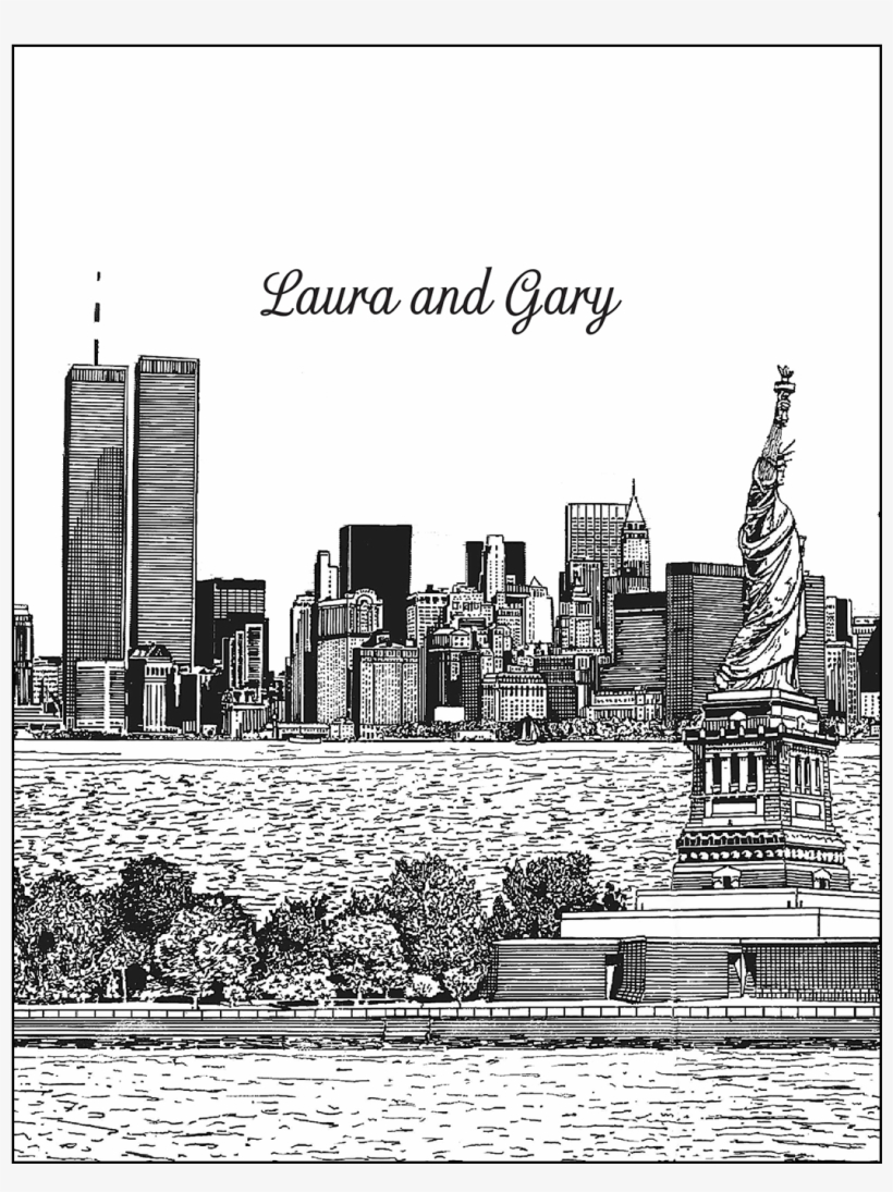 Cover Of New York City Theme Thank You Card - New York City, transparent png #3338904