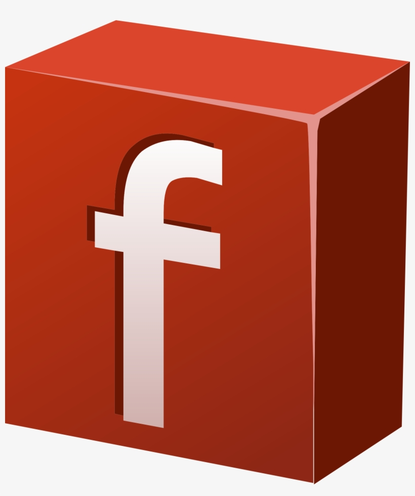 Facebook Icon Social Media Button - รูป Facebook สี แดง, transparent png #3339170