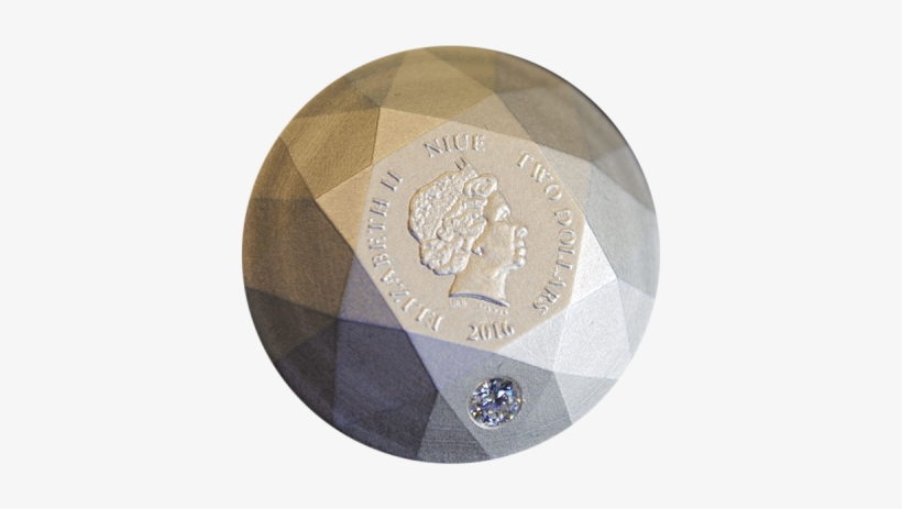 Niue 2016 2$ Silver Diamond 3d Shape Antique Finish - Diamond 3d Silver Coin - Niue 2016, transparent png #3340926