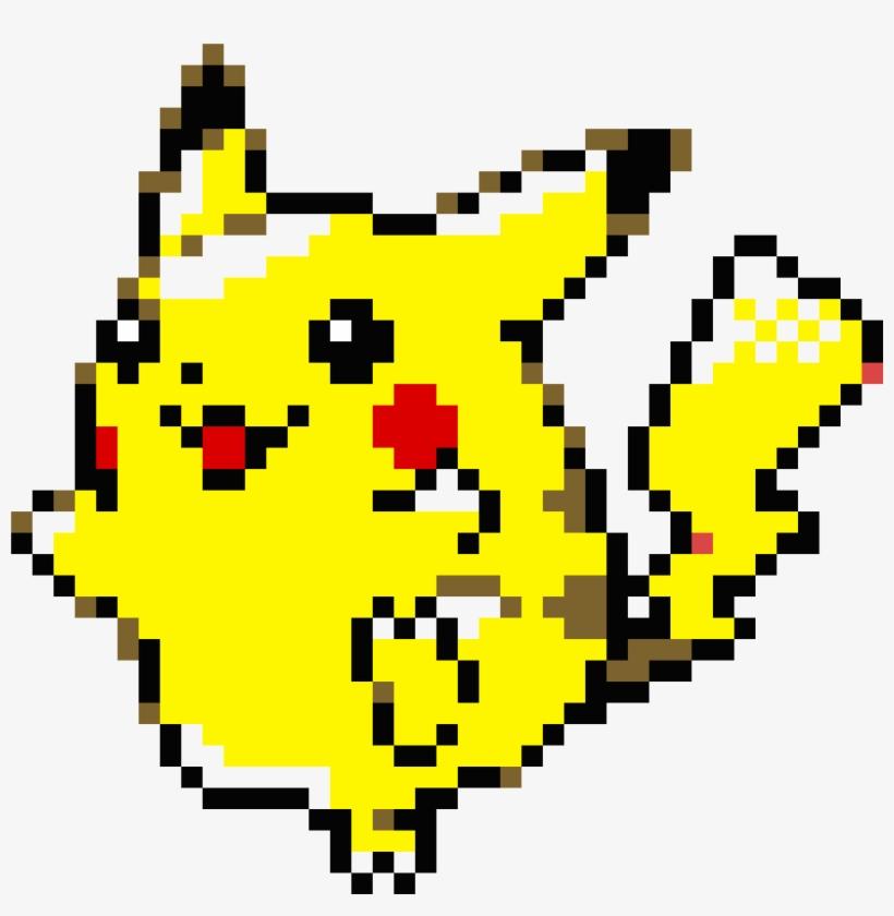 Pixel Art Pikachu Face