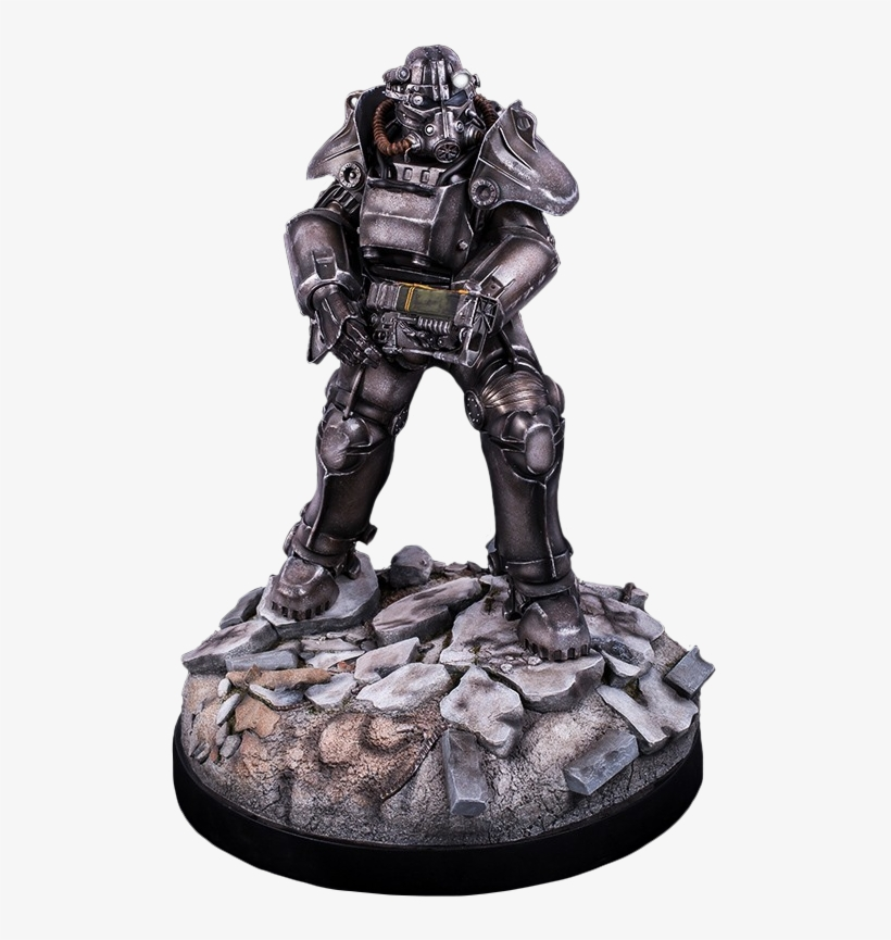 """T-45 Power Armor 22"""" Statue Main Image - Fallout 4 T-45 Power Armor 1:4 Scale Statue, transparent png #3343467"""