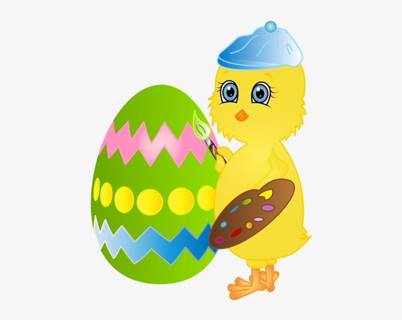 Easter Clipart Chicken - Chicken Painting Easter Egg, transparent png #3345957