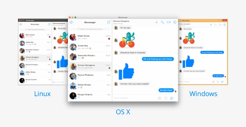 Facebook Messenger Desktop App - Facebook Messenger For Desktop, transparent png #3351935