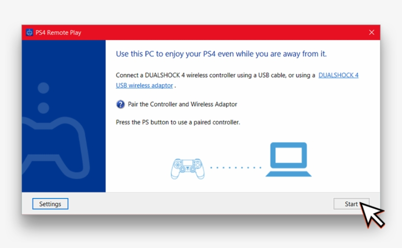 Connect Your Dualshock 4 Controller Over Usb To Your - Remote Play, transparent png #3352429