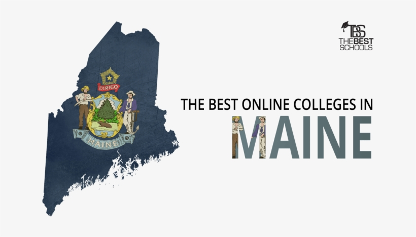 The Best Online Colleges In Maine For 2018 - (d Pin) 25mm Lapel Pin Button Badge: Maine Flag, transparent png #3355840
