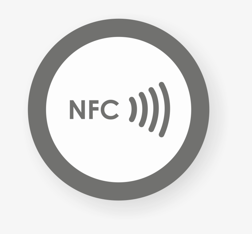 Picture Of Nfc Sticker 50mm With Border, - Nfc Logo Png