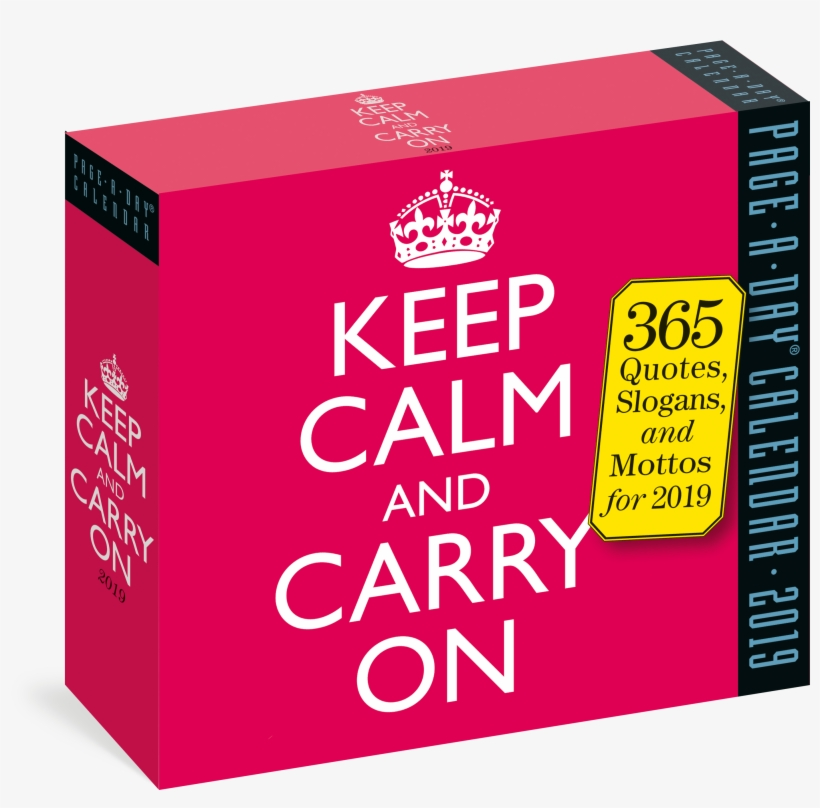Keep Calm And Carry On Page A Day Calendar - Keep Calm And Carry, transparent png #3364331