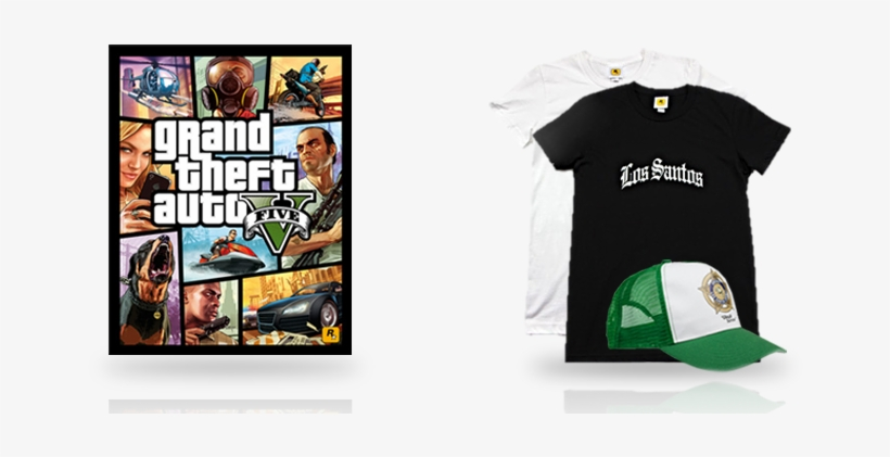 """These New Additions Include A 22""""x28"""" Poster Featuring - Grand Theft Auto V, transparent png #3366911"""
