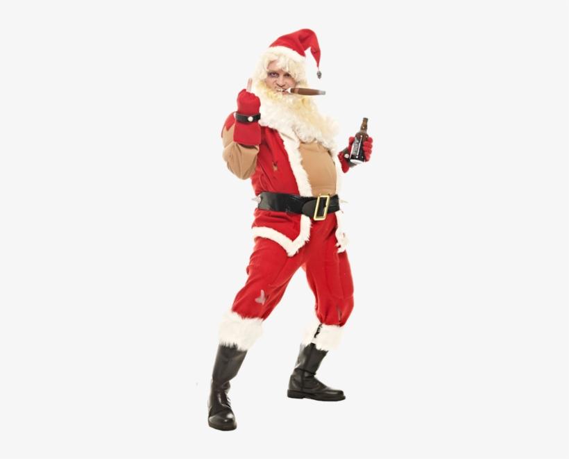 Bad Santa Costume - Santa Dress Up Funny, transparent png #3375499