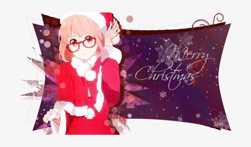My Collection Of Christmas/winter Anime Backgrounds - Kyoukai No Kanata Christmas, transparent png #3375524