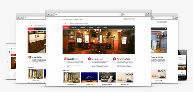 5 Free Responsive Joomla Templates From Zootemplate - Template, transparent png #3378764