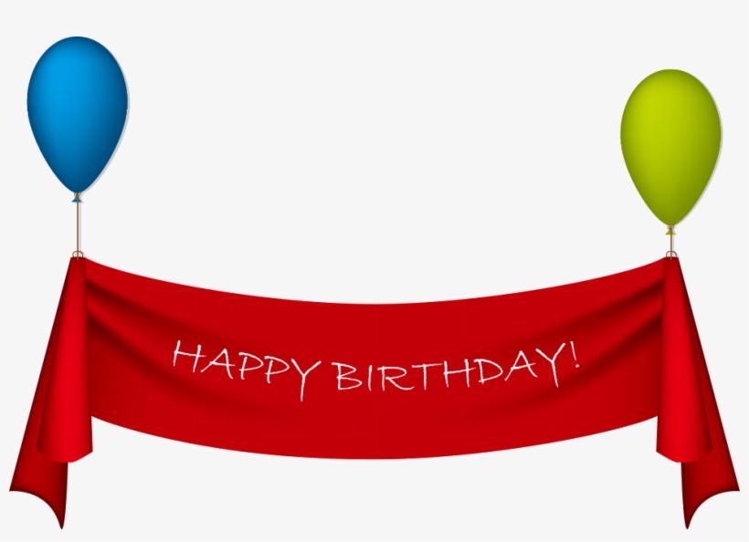 Birthday Ribbon Greeting Card Clip Art - Happy Birthday Ribbon Png, transparent png #3380840