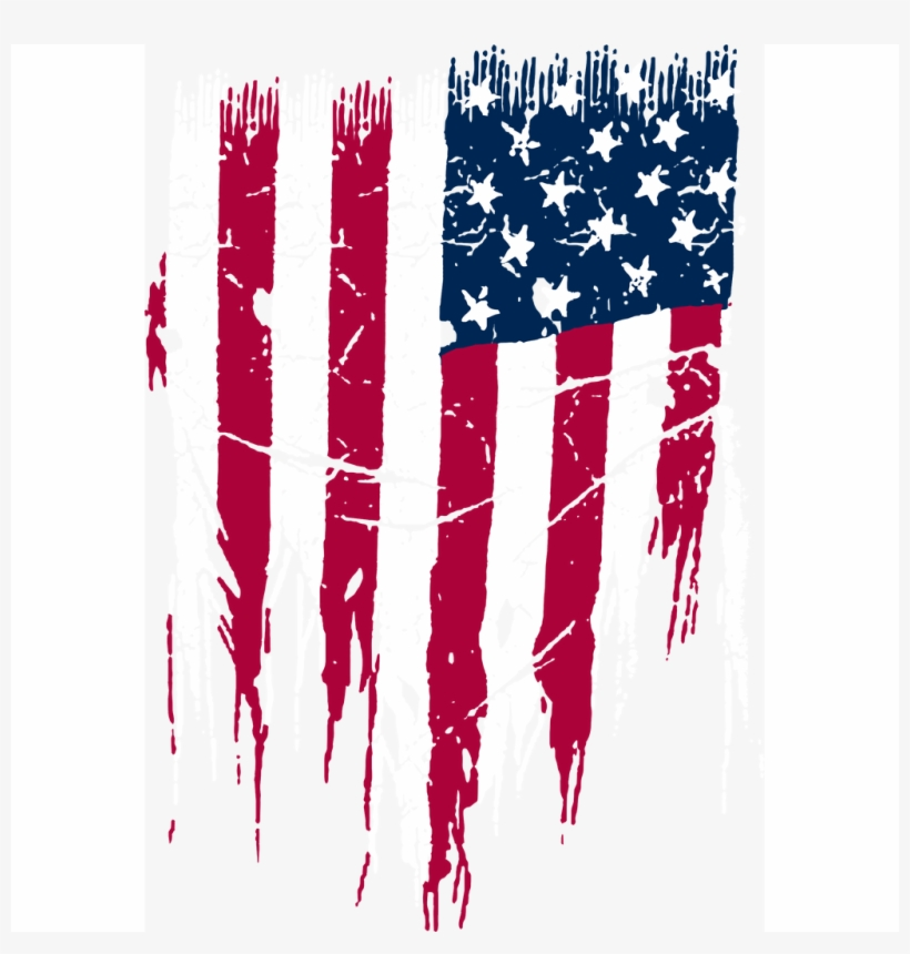 Women's Usa Flag Distressed Tie Waist Dress Swimwear - Distressed American Flag Png, transparent png #3383766